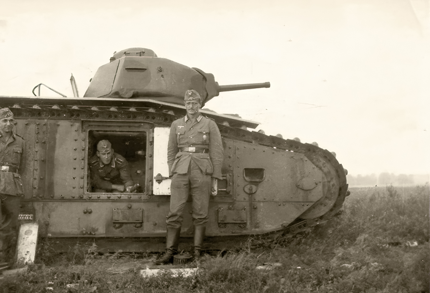 French Army Renault Char B1 captured during the battle of France 1940 ebay 01