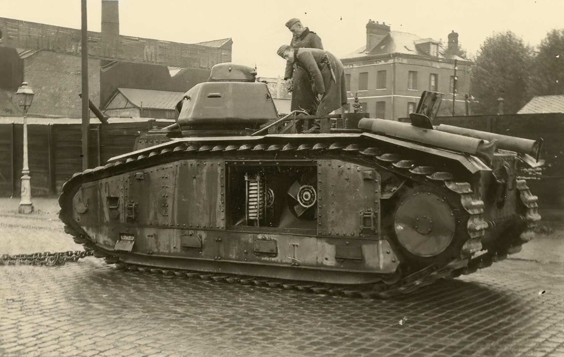 French Army Renault Char B1 captured in Belgium May 1940 ebay 01