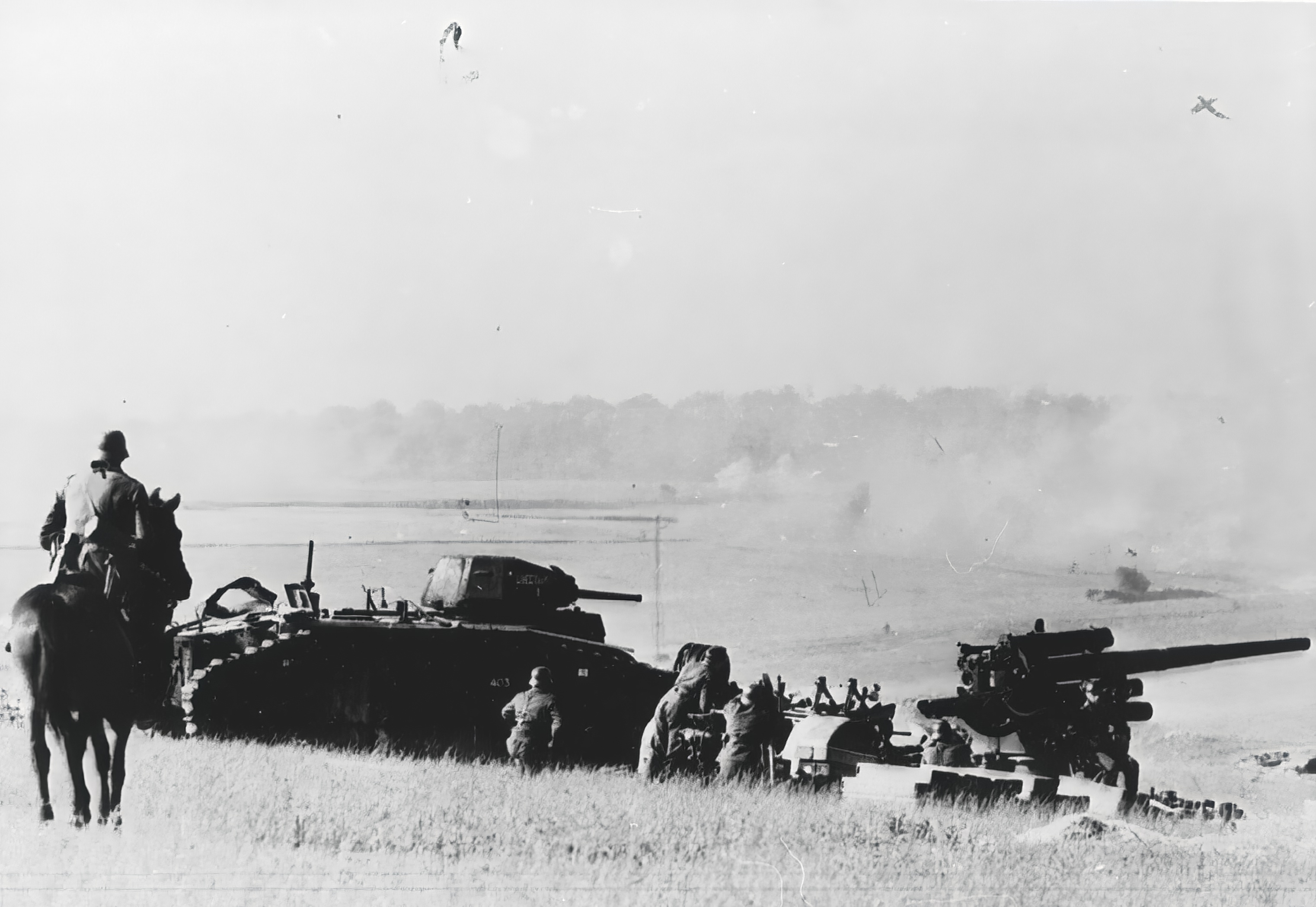 French Army Renault Char B1 knocked out by German forces advancing near La Pouge France 11th Jun 1940 NIOD