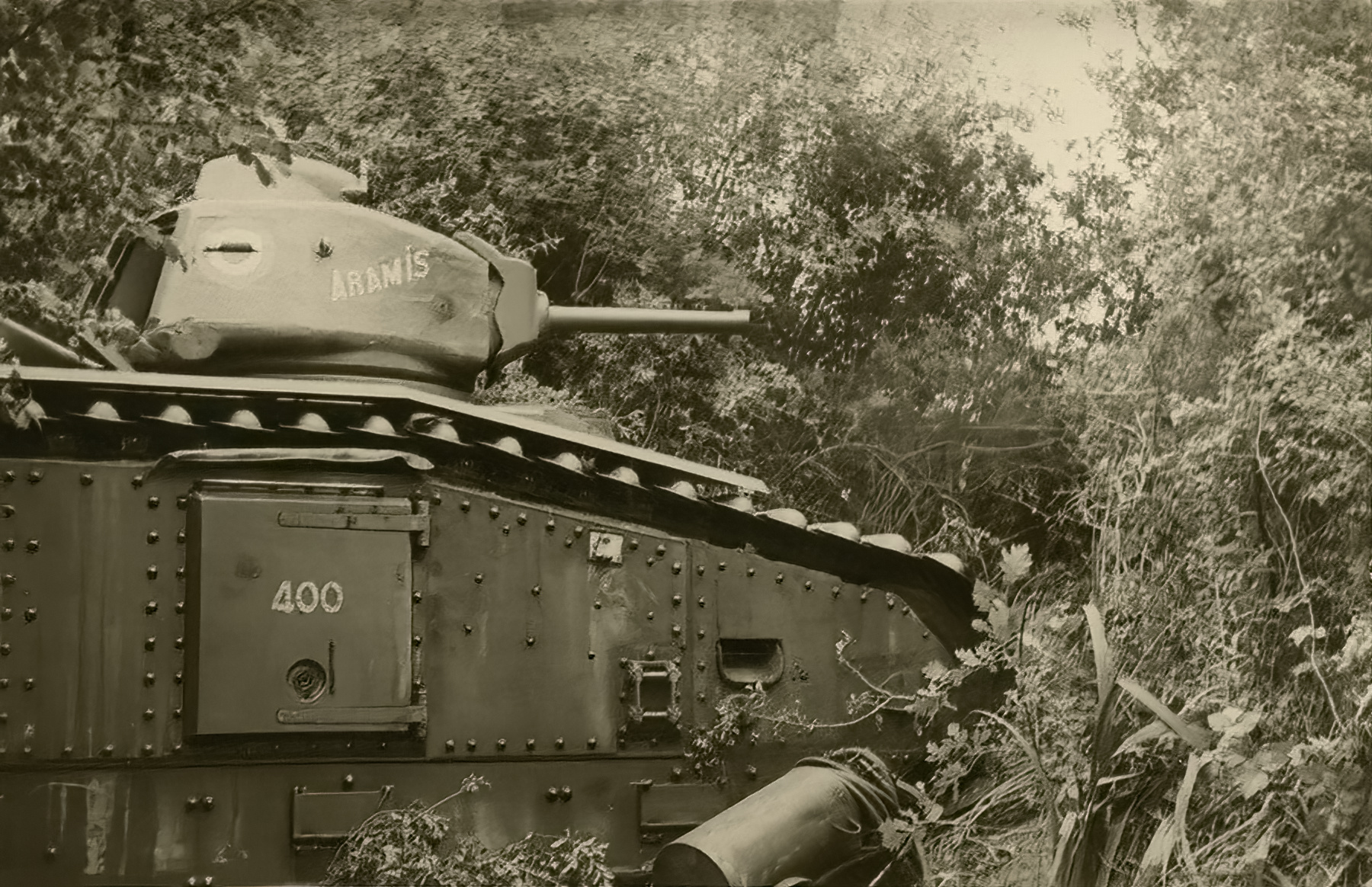 French Army Renault Char B1 named Aramis 400 abandoned during the battle of France 1940 ebay 01