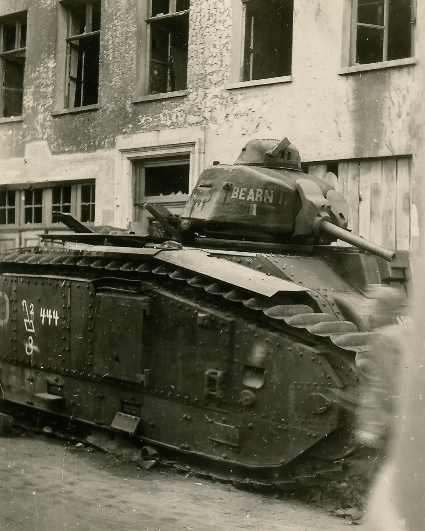 French Army Renault Char B1 named Bearn II abandoned during the battle of France 1940 ebay 01