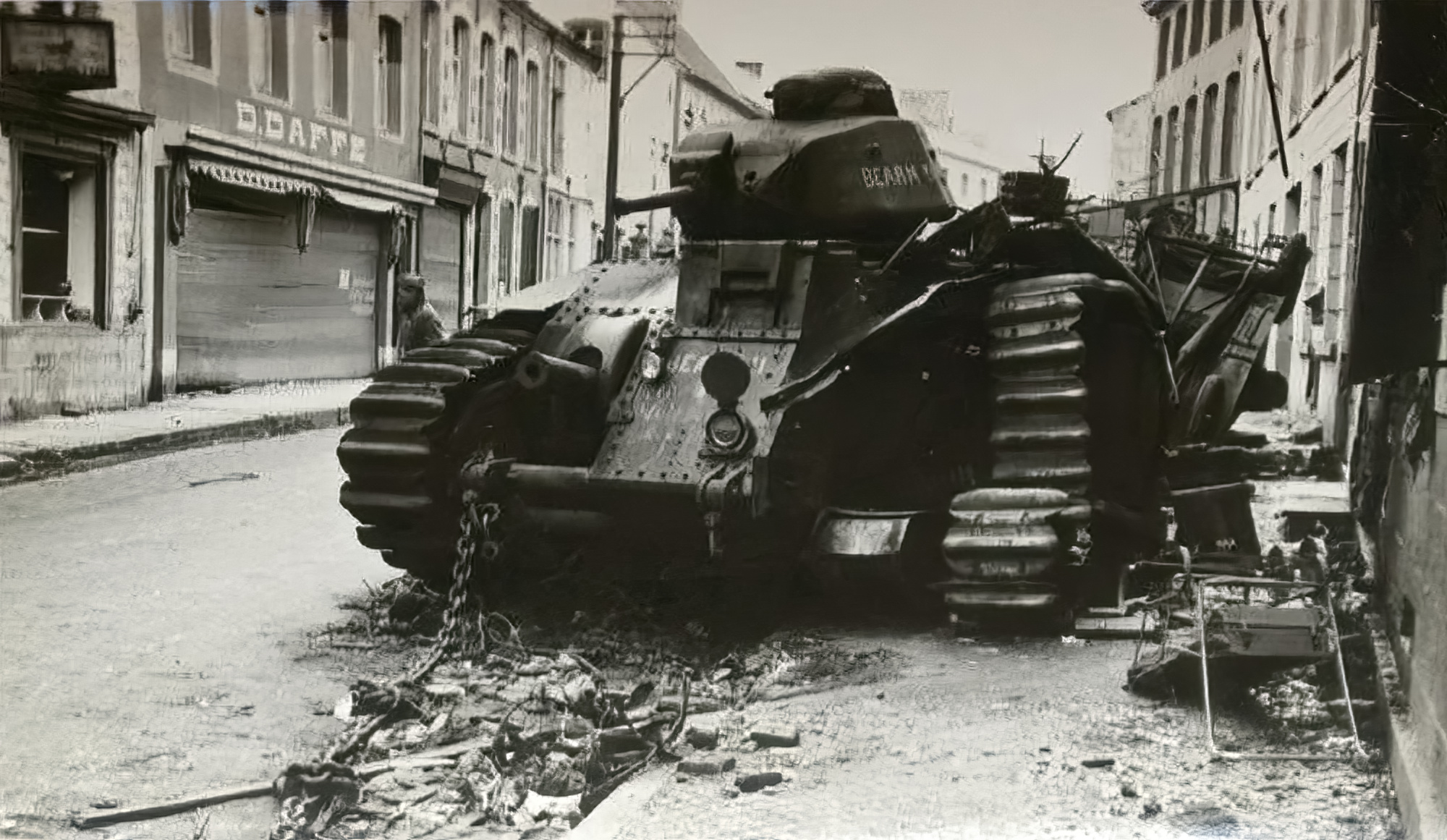 French Army Renault Char B1 named Bearn II knocked out during the battle of France 1940 ebay 02