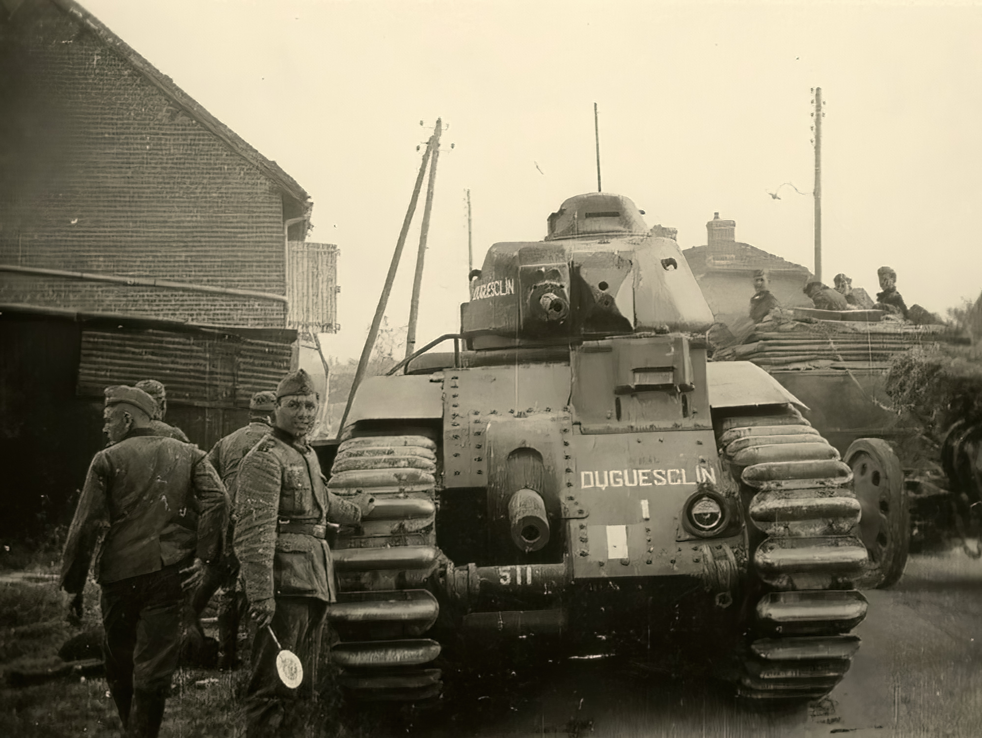 French Army Renault Char B1 named Duguesclin captured during the battle of France 1940 ebay 01