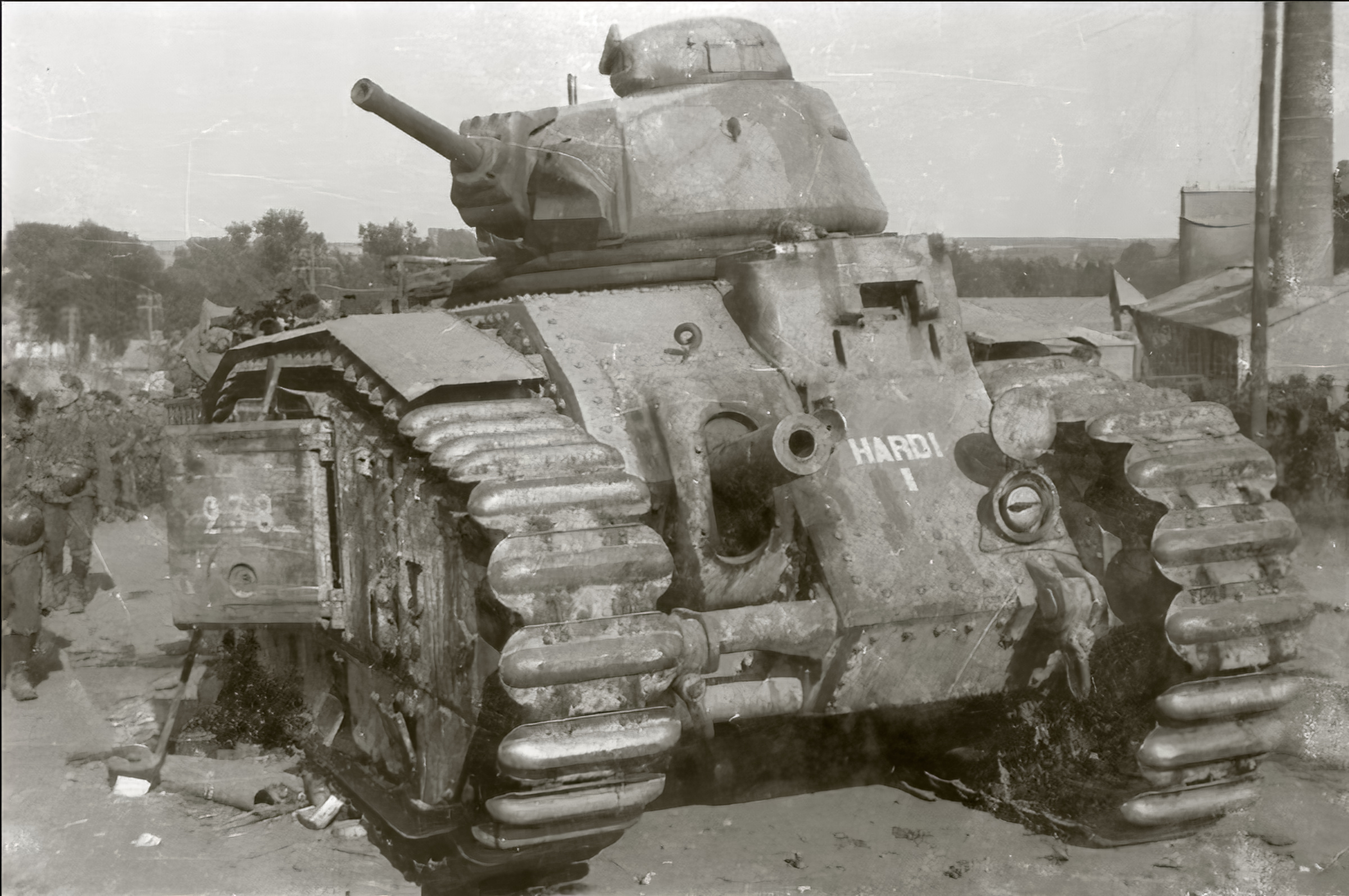 French Army Renault Char B1 named Hardi 238 abandoned during the battle of France 1940 ebay 01