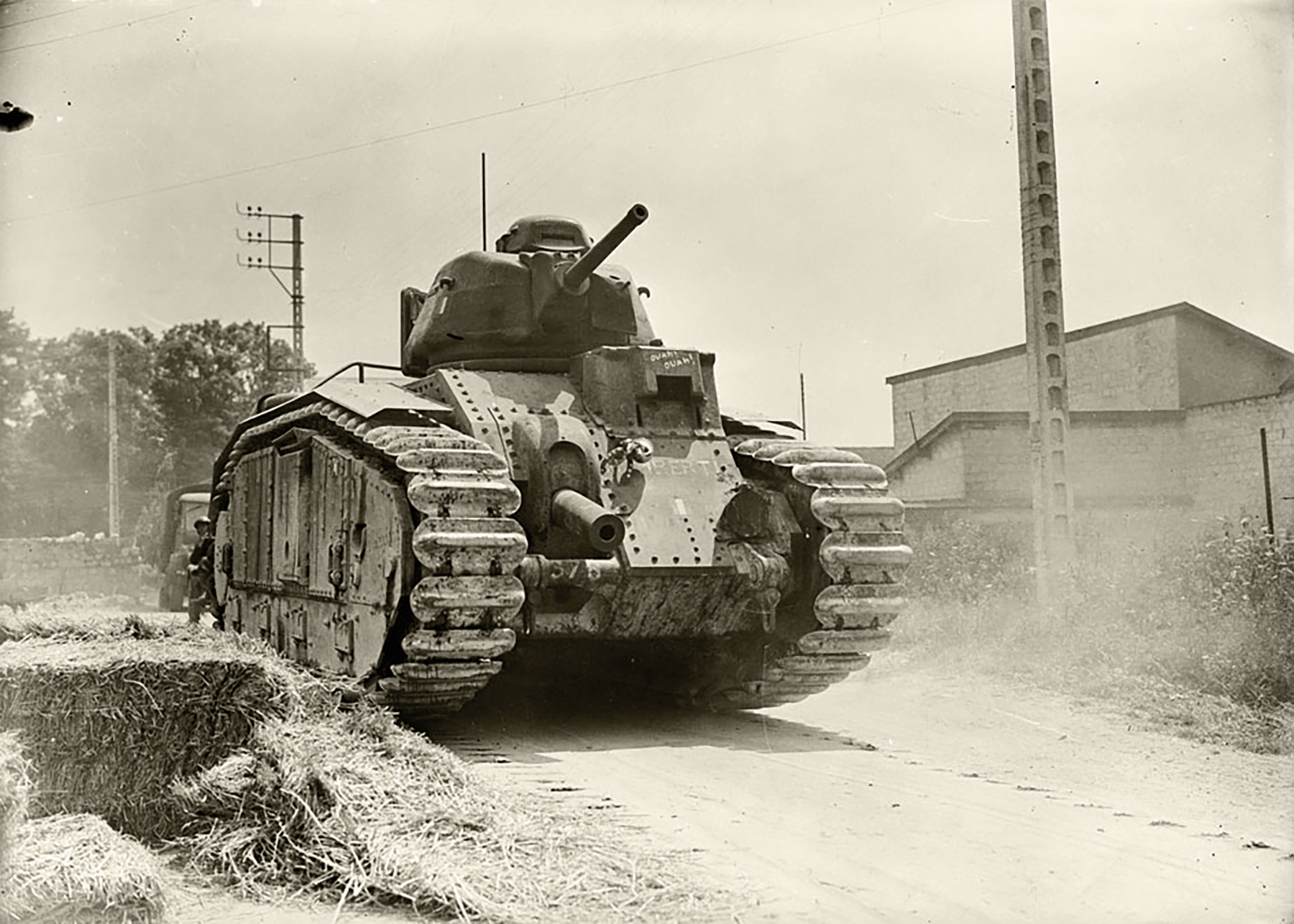 French Army Renault Char B1 named Mbreti means king during the battle of France 1940 ebay 01