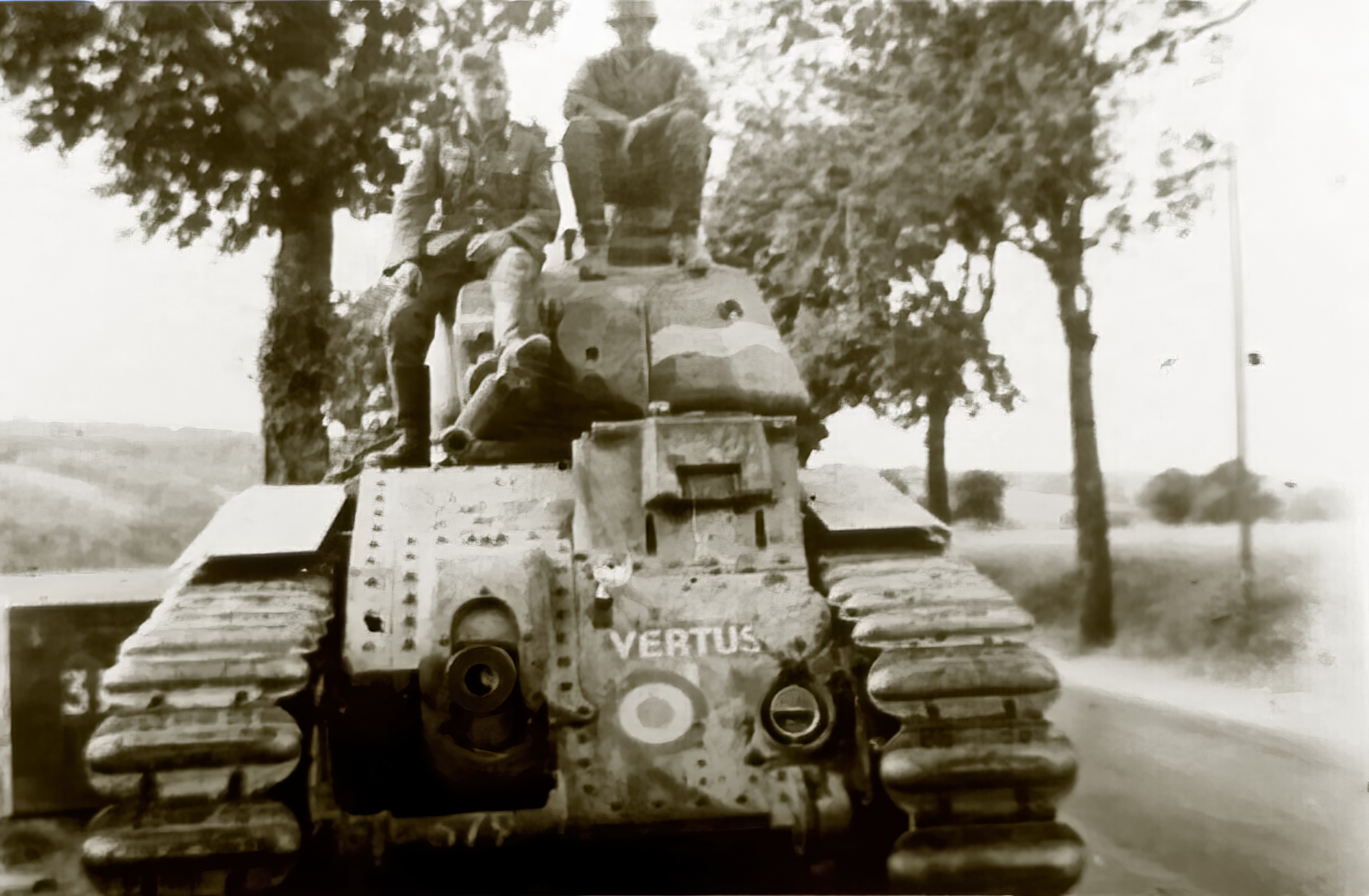 French Army Renault Char B1 named Vertus captured during the battle of France 1940 ebay 01
