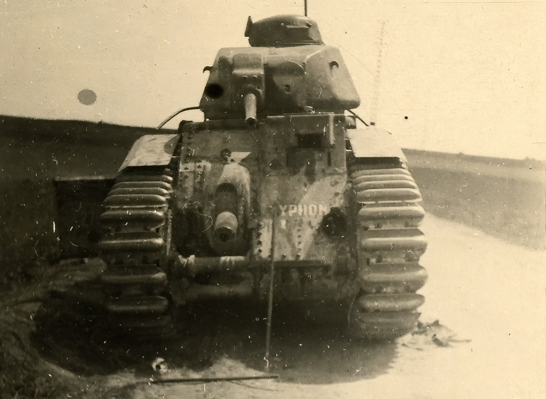 French Army Renault Char B1 named Yphon abandoned during the battle of France 1940 ebay 01