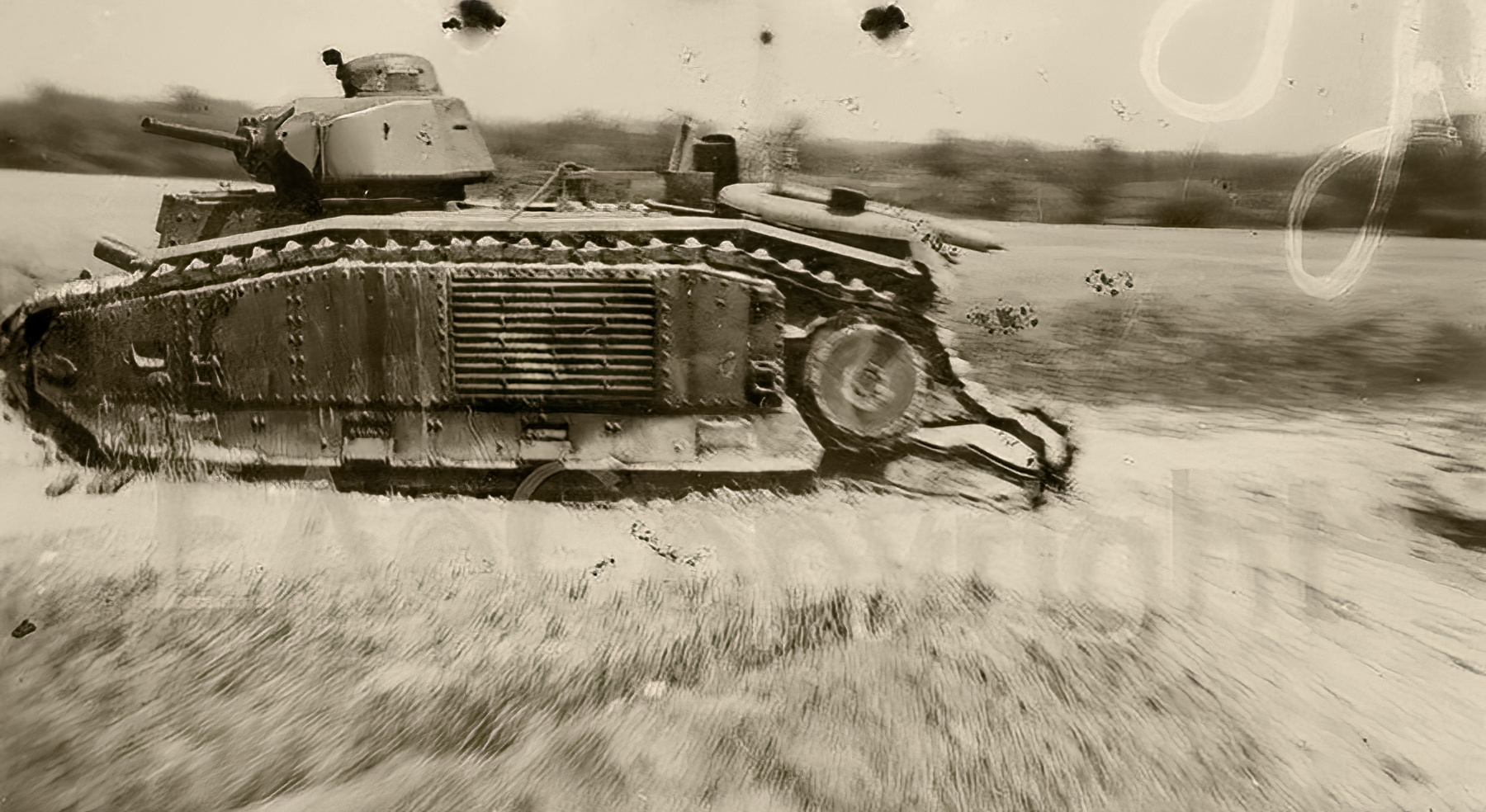 French Army Renault Char B1bis abandoned after losing its track France 1940 ebay 01