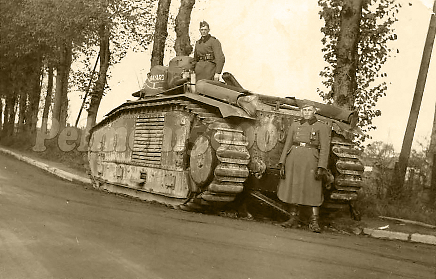 French Army Renault Char B1bis abandoned during the battle of France 1940 ebay 01