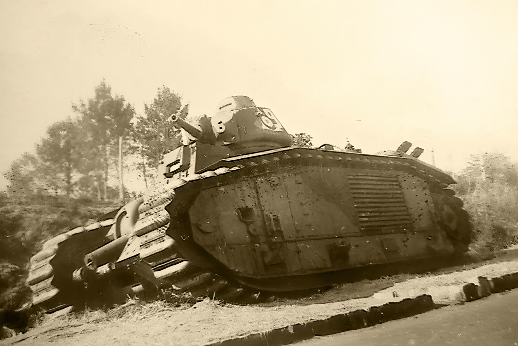 French Army Renault Char B1bis abandoned during the battle of France 1940 ebay 05
