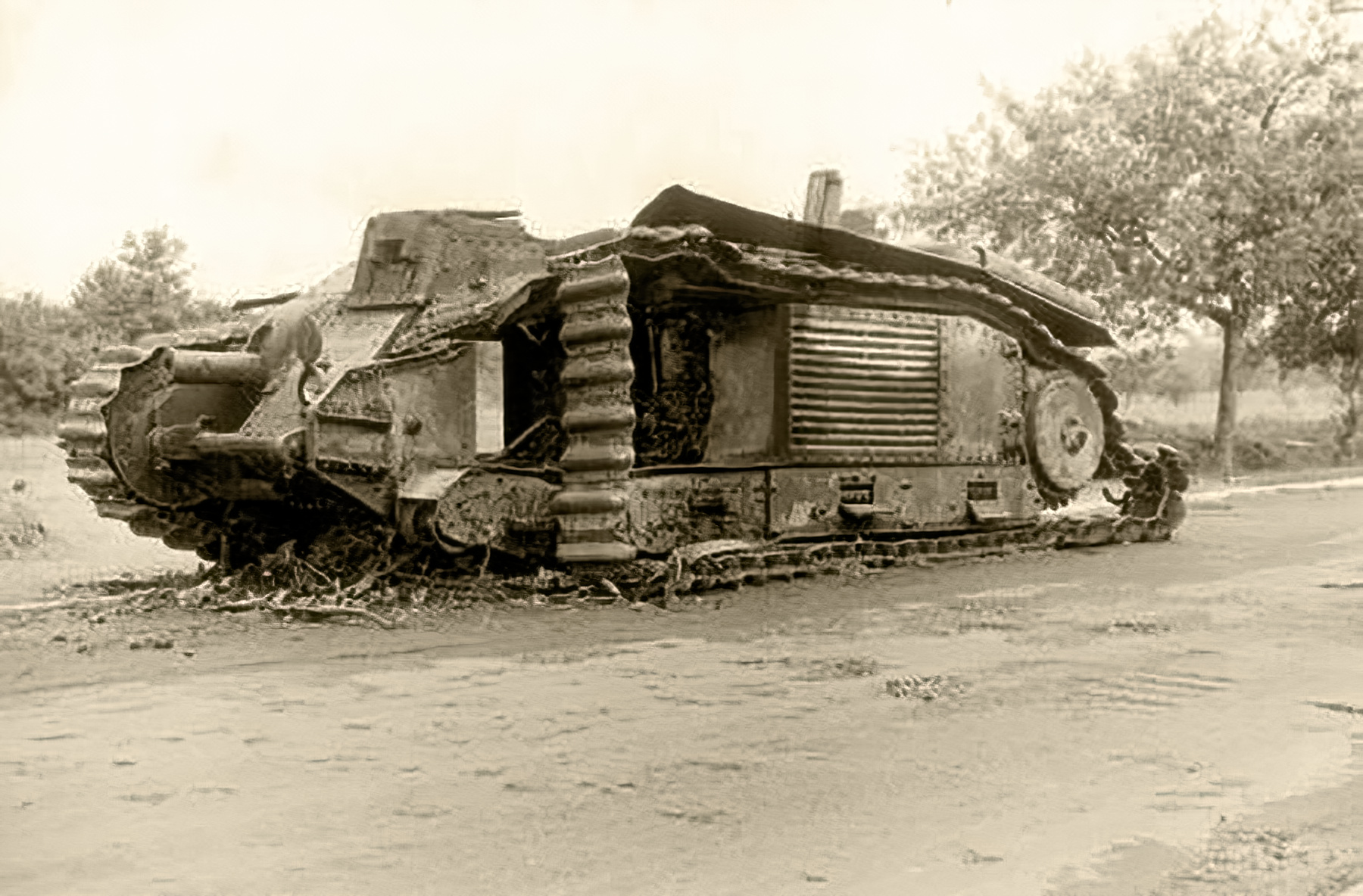 French Army Renault Char B1bis destroyed during the battle of France 1940 ebay 02