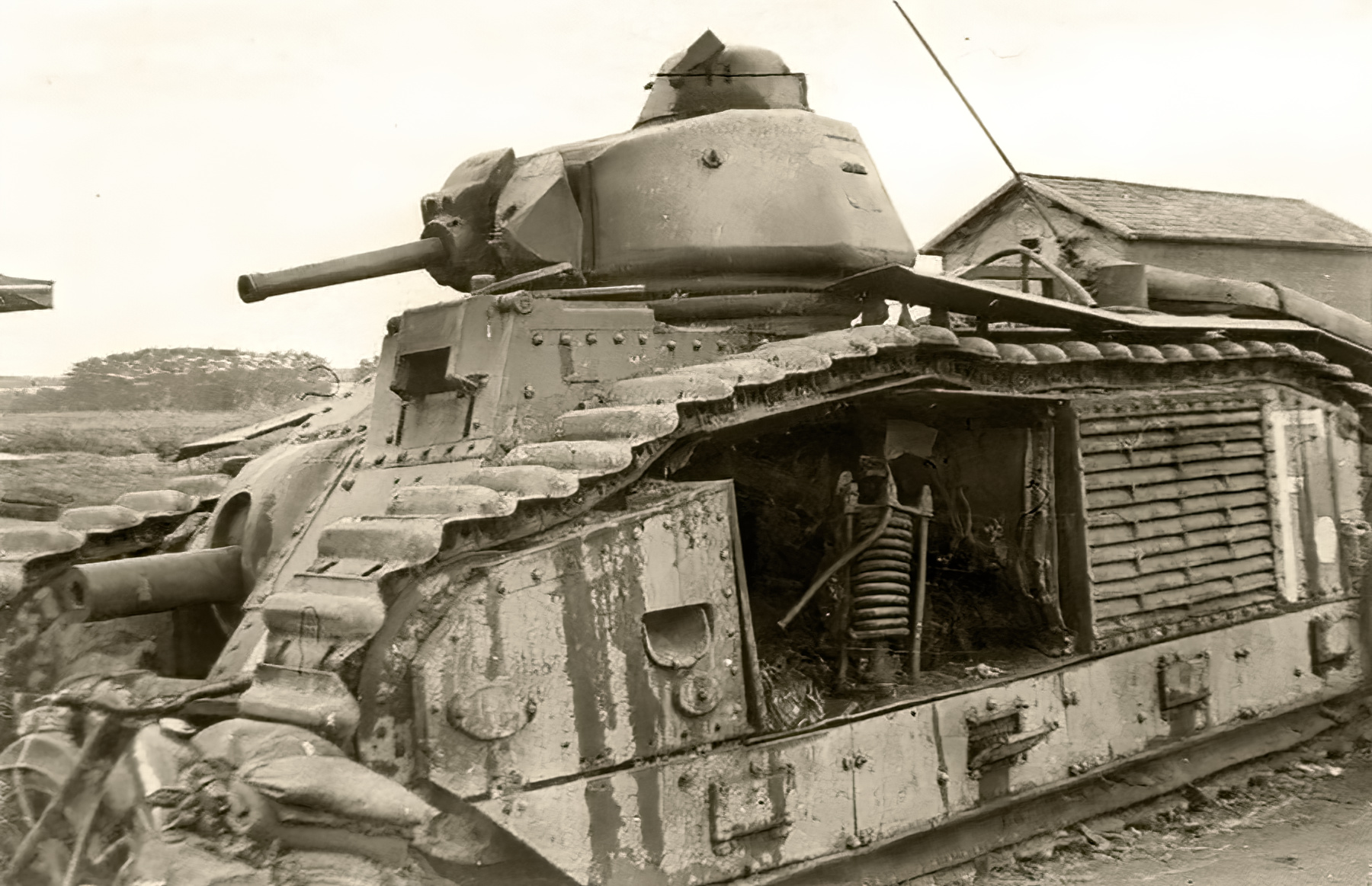 French Army Renault Char B1bis knocked out Souilly France 1940 ebay 01