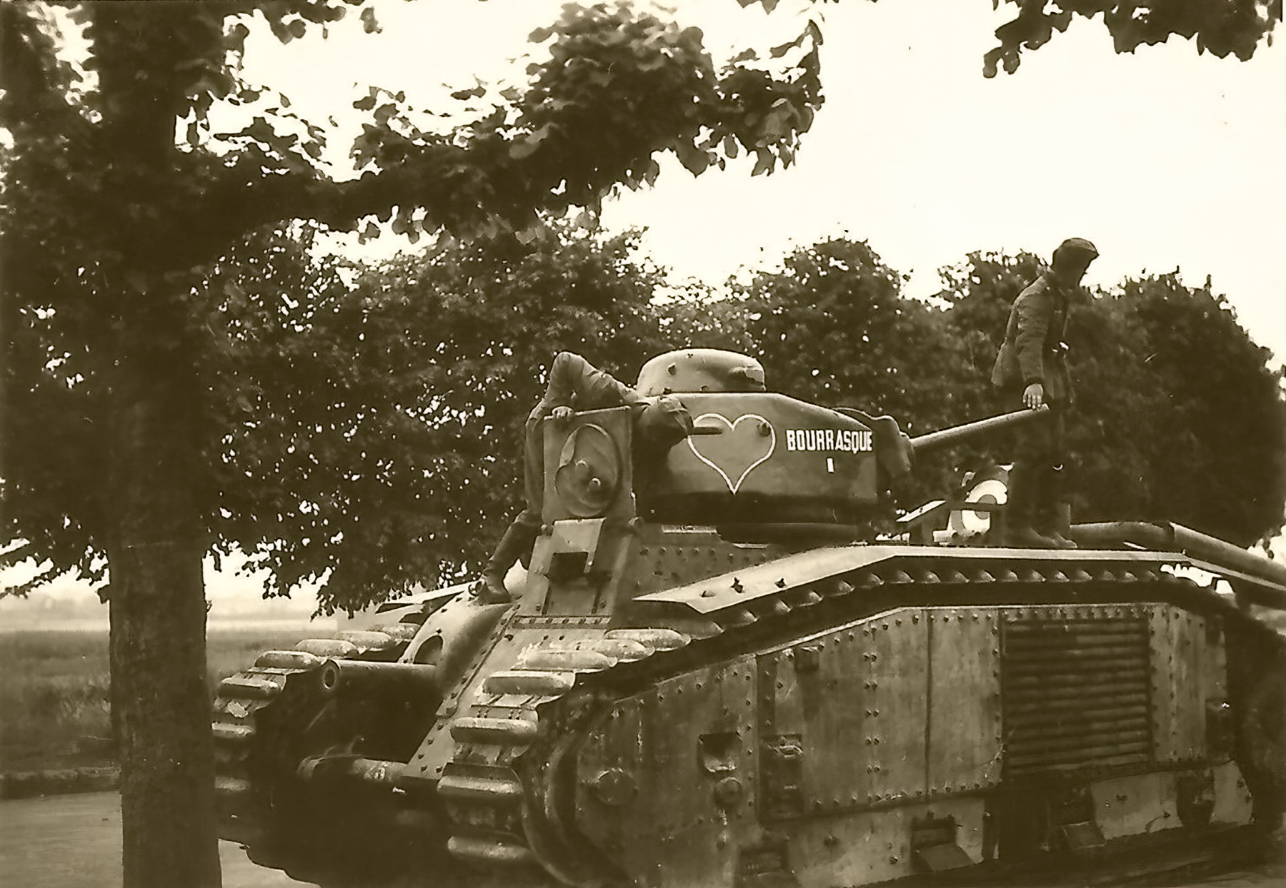 French Army Renault Char B1bis named Bourrasque I 491 abandoned battle of France ebay 01