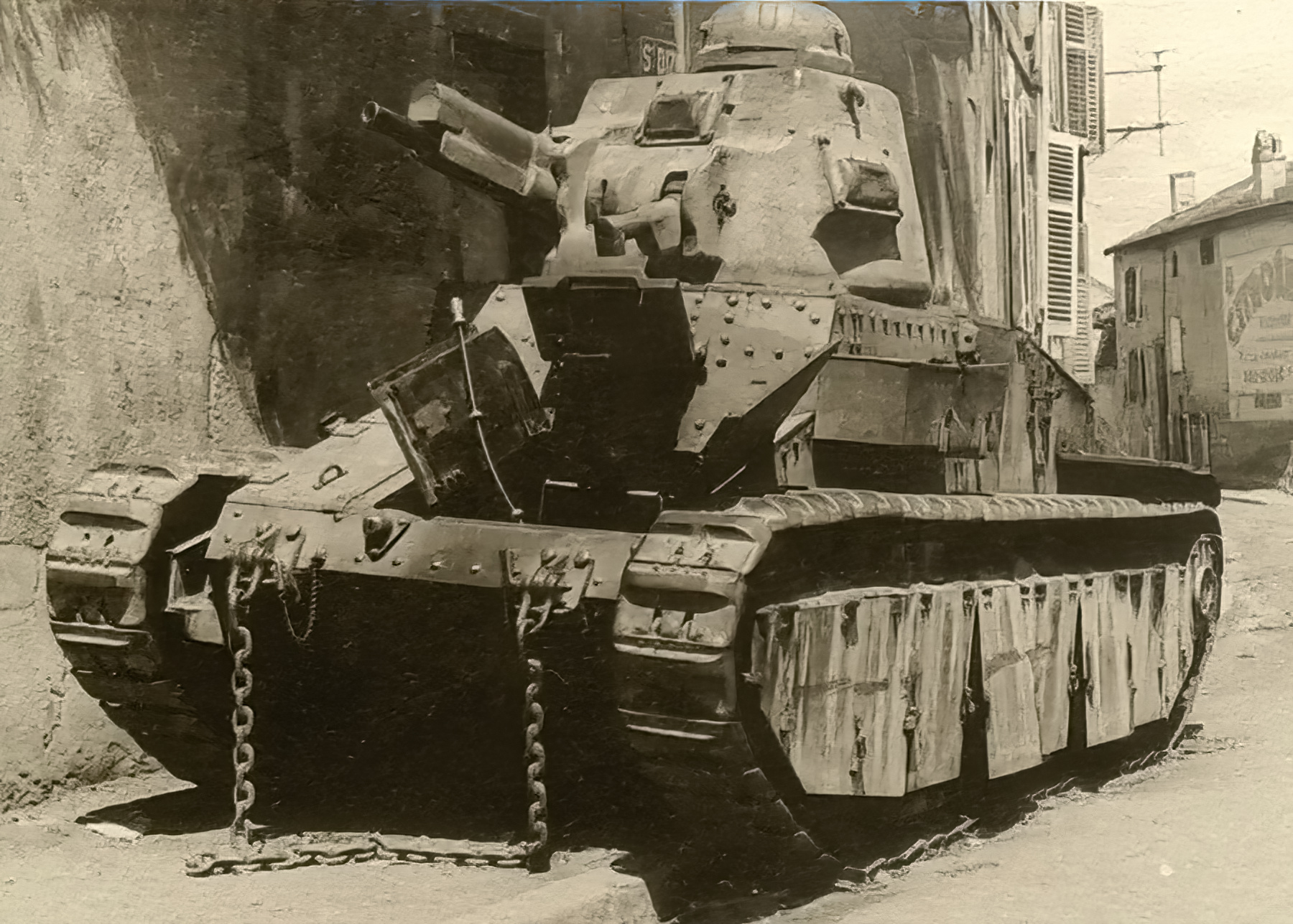 French Army Renault Char D1 abandoned during the Weygand Plan France 1940 ebay 01