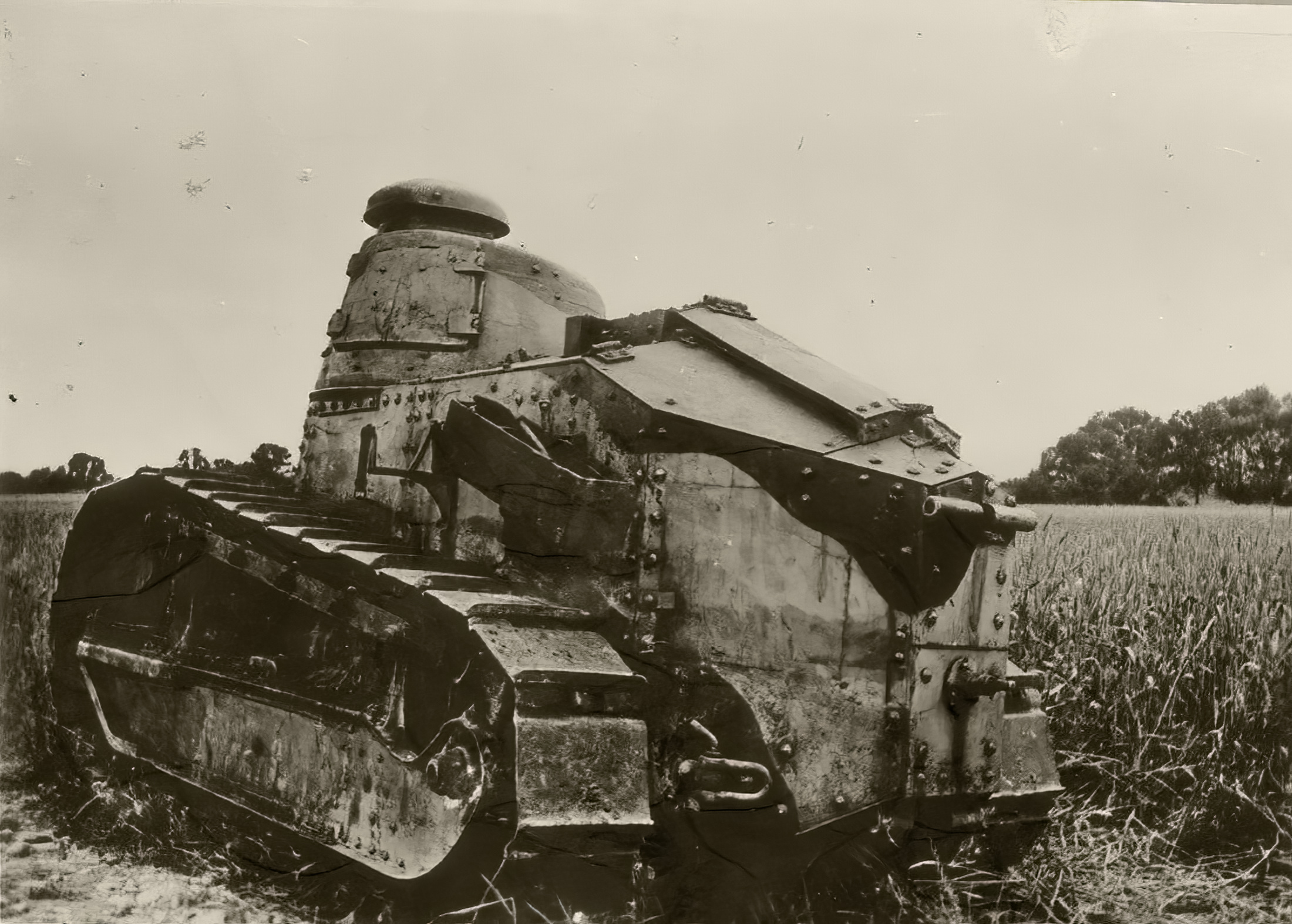 French Army Renault FT 17 abandoned during the Battle of France 1940 ebay 01