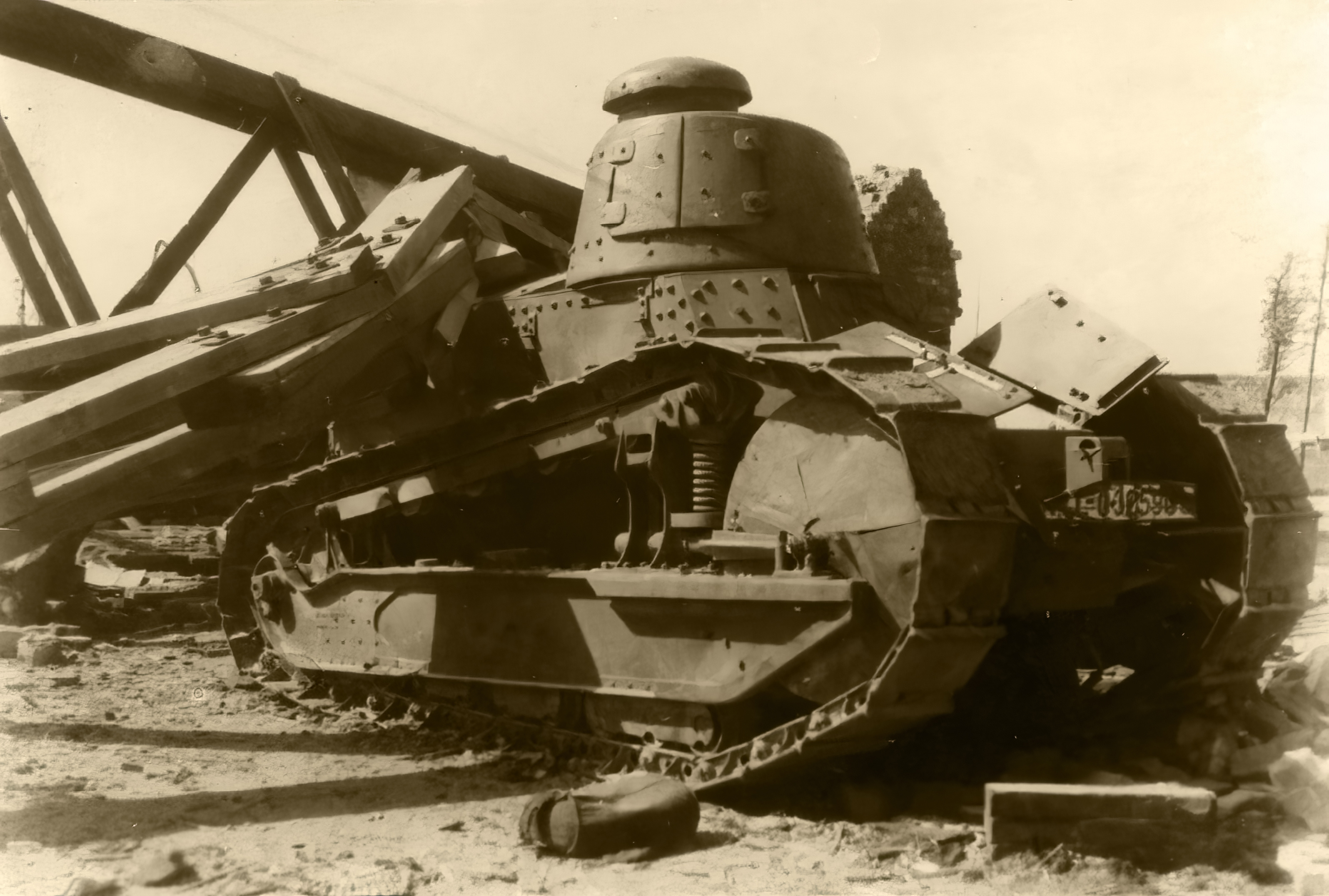 French Army Renault FT 17 captured during the Battle of France 1940 NIOD