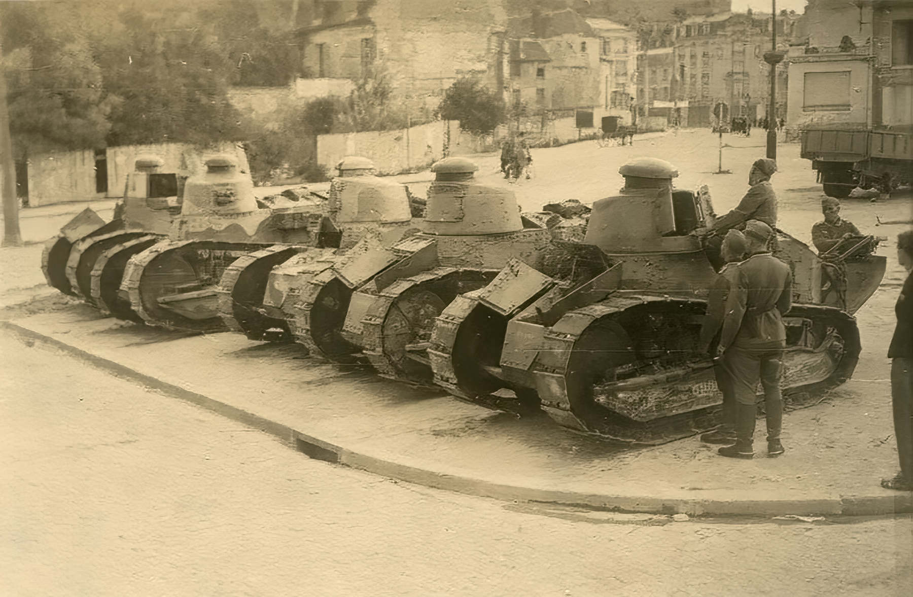 French Army Renault FT 17s captured during the Battle of France 1940 ebay 01