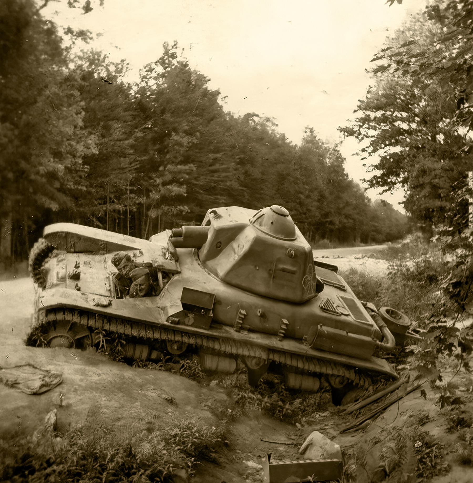 French Army Renault R35 support tank abandoned battle of France 1940 ebay 01