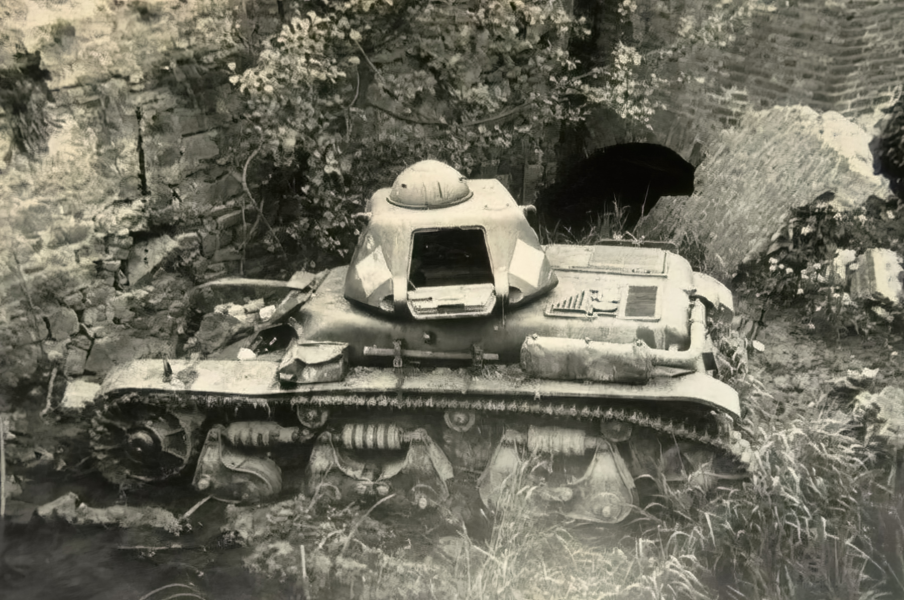 French Army Renault R35 support tank abandoned battle of France 1940 ebay 04