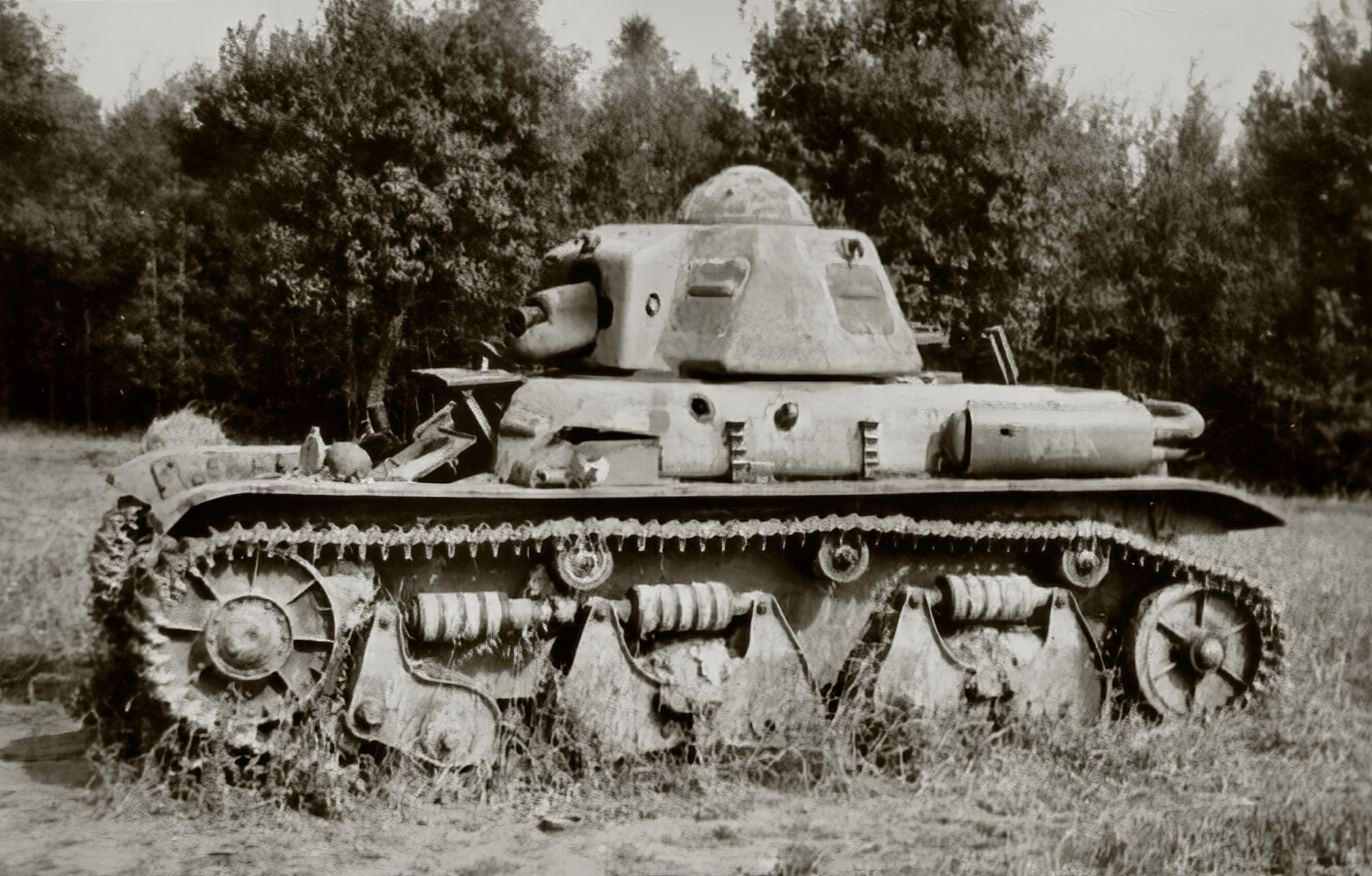 French Army Renault R35 support tank abandoned battle of France 1940 ebay 07