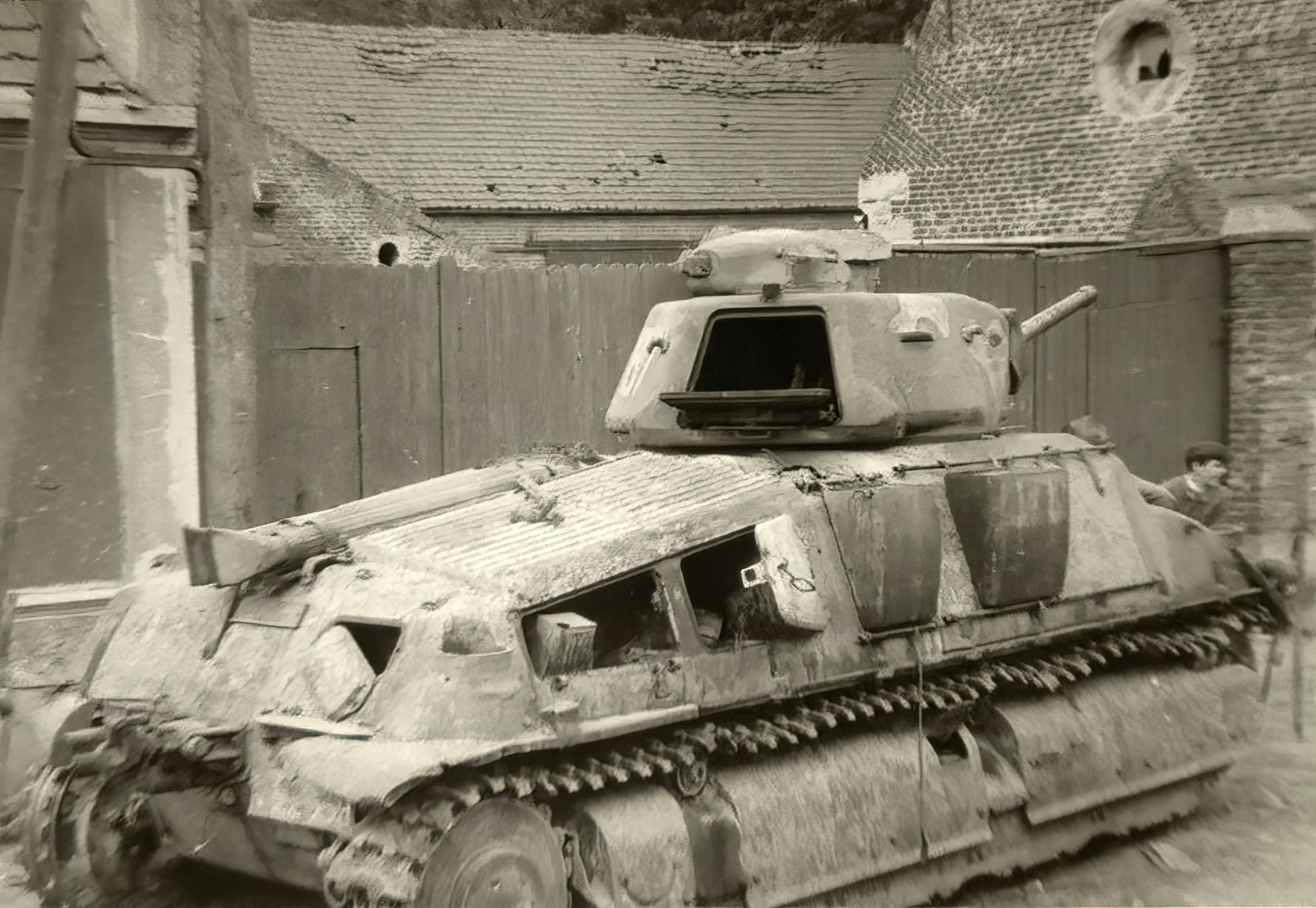 French Army Somua S35 abandoned in a street battle of France June 1940 ebay 01