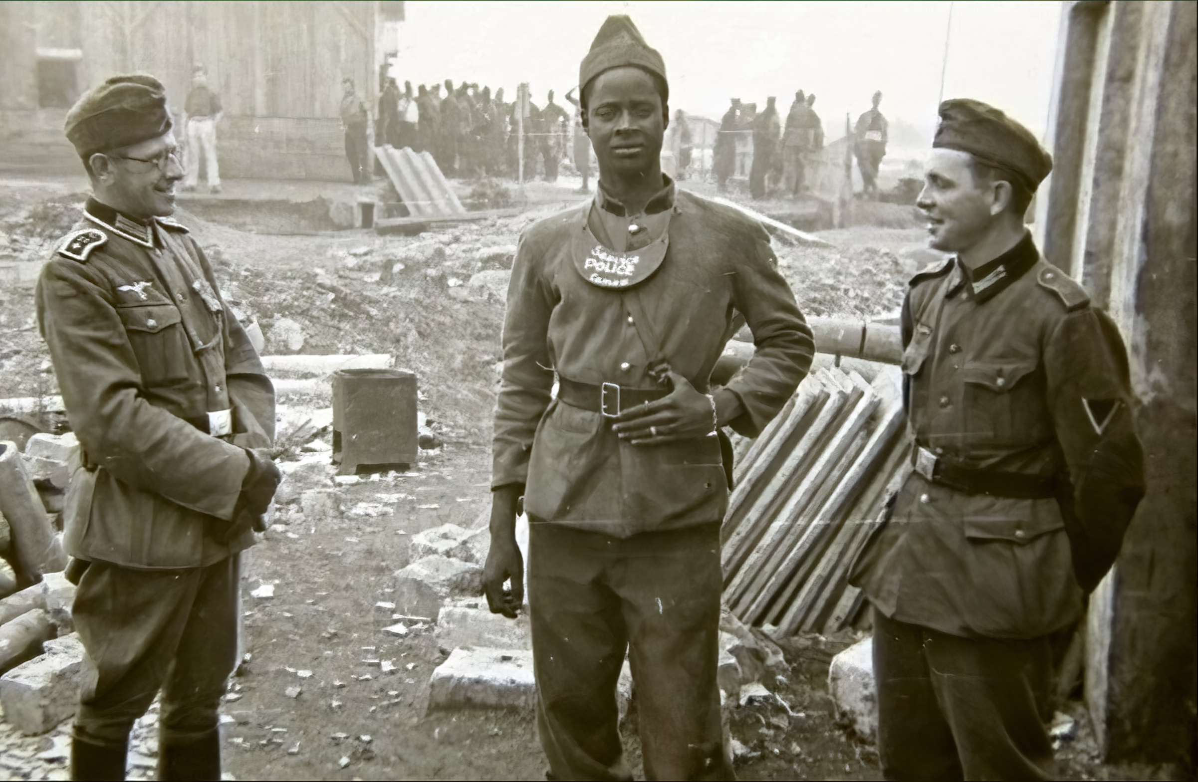 French soldier is sectioned out for a photo which carries many innuendos BOF 1940 ebay 01