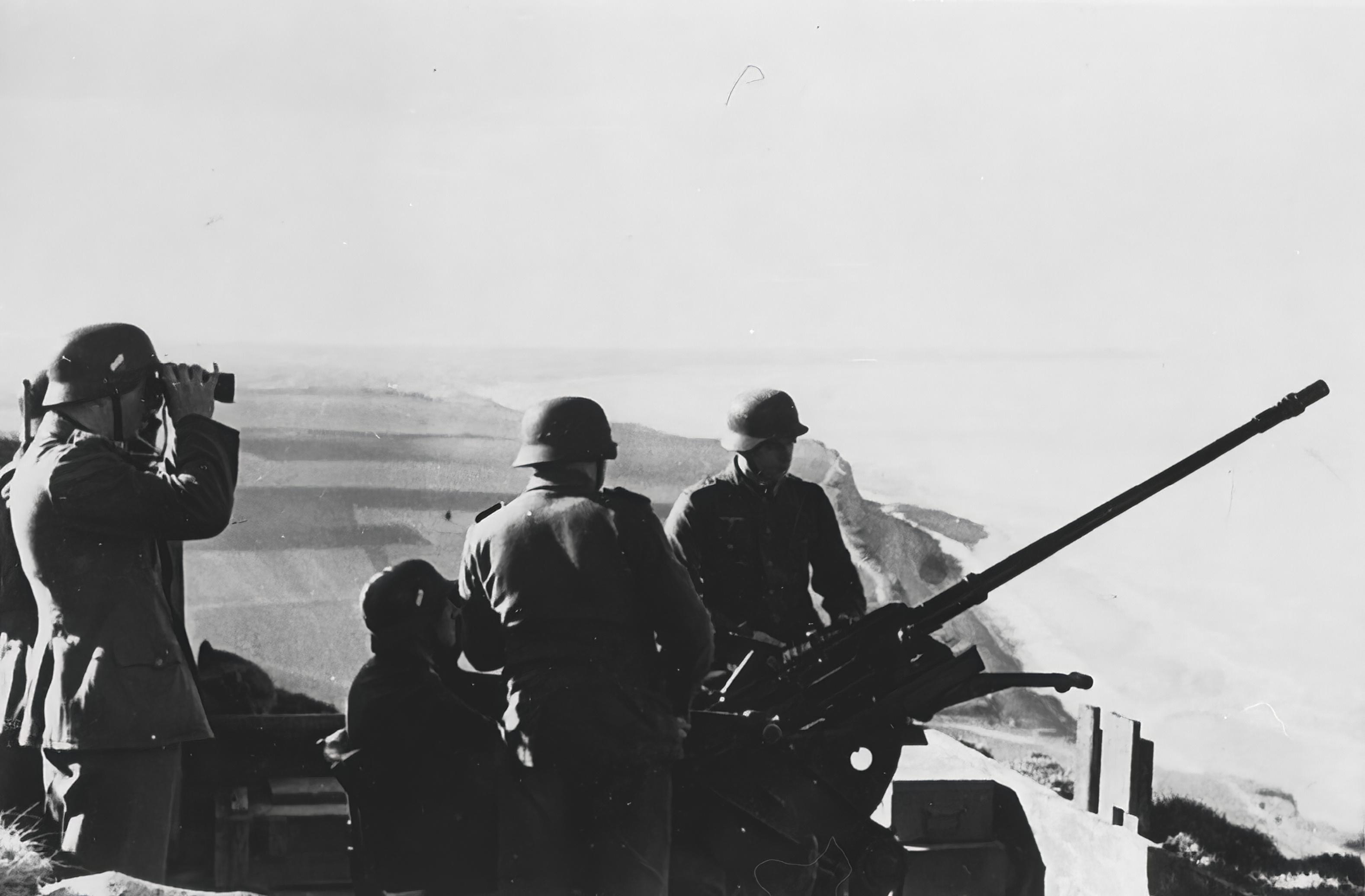 German coastal flak battery established in France after the fall 3rd Dec 1940 NIOD