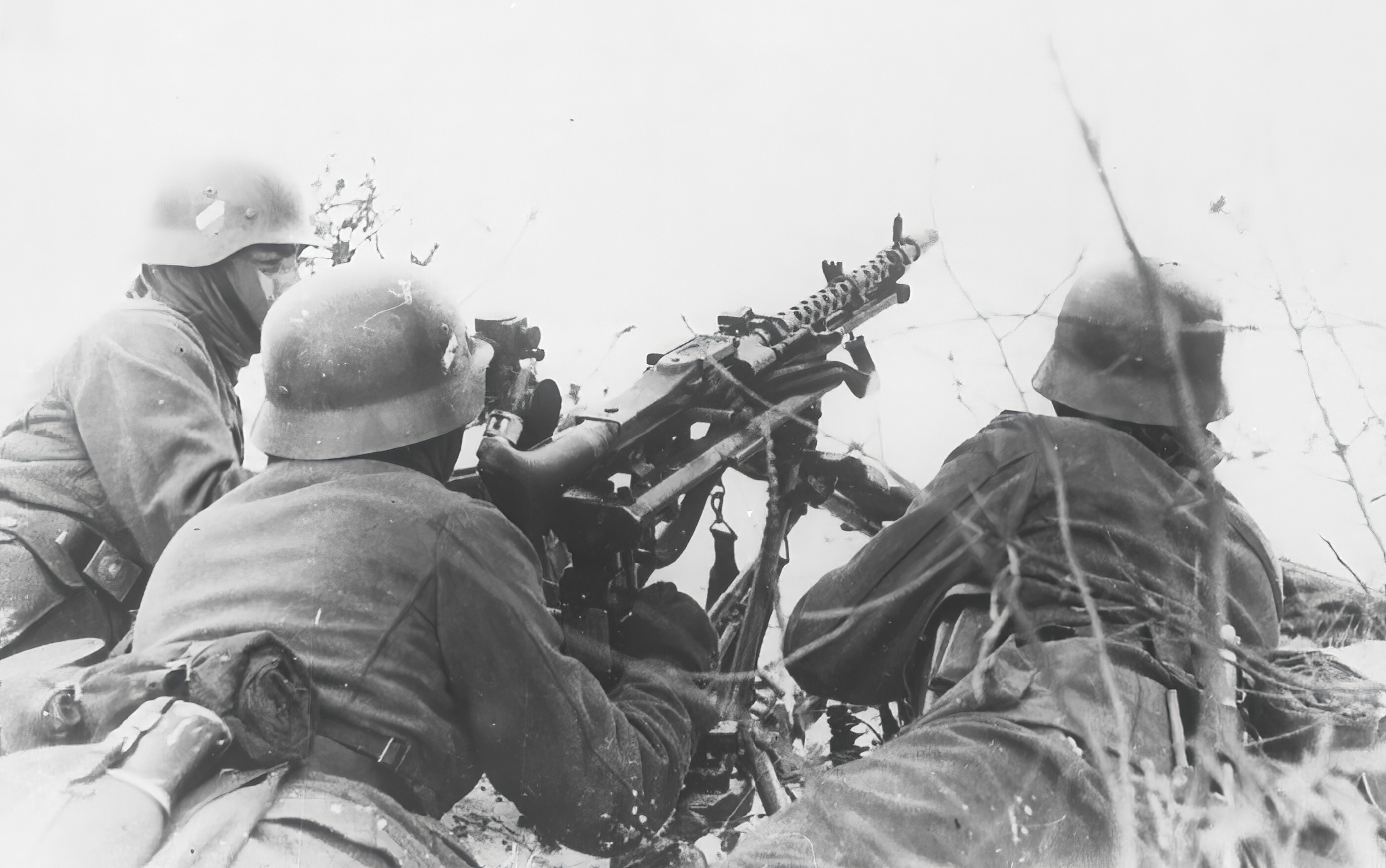 German machine gunners in a typical covering position 24th Feb 1940 NIOD