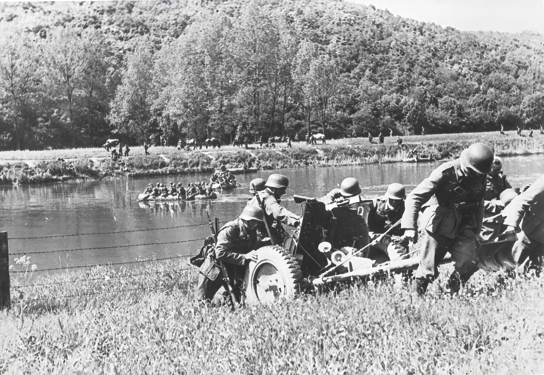 German troops advancing into Belgium 27th May 1940 NIOD