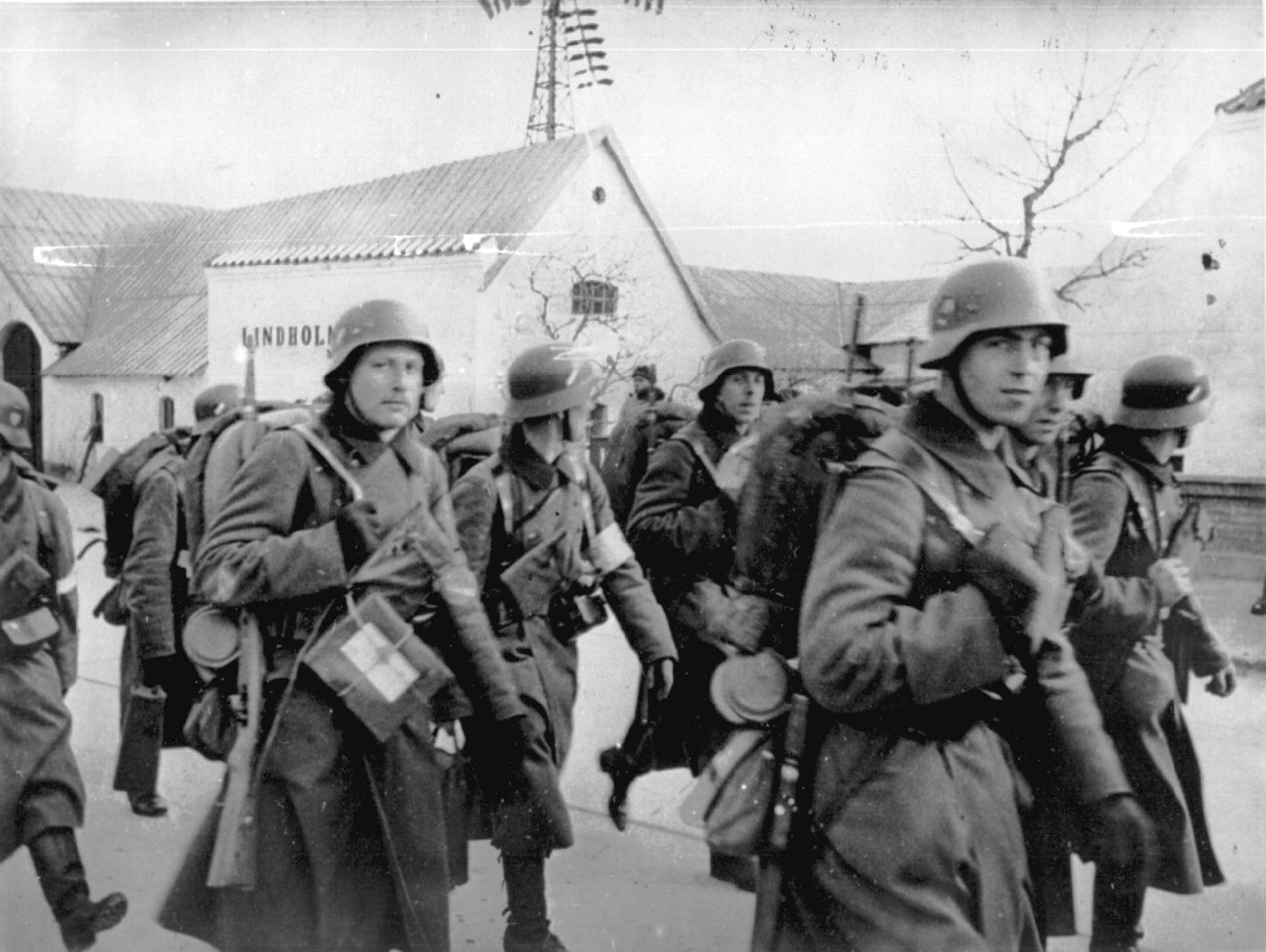 German troops march through Denmark 10th Apr 1940 NIOD