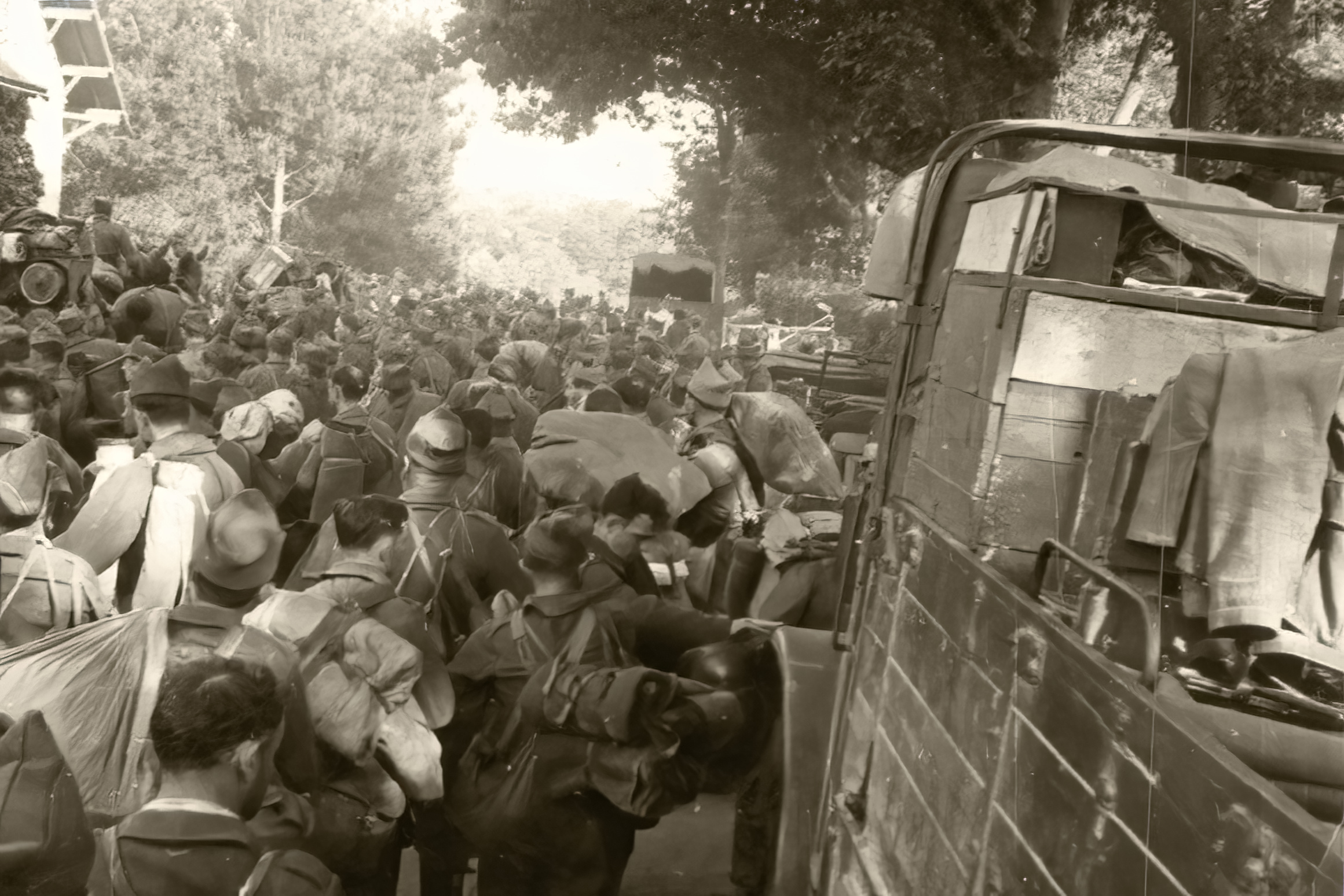 War refugees caused chaos for the French army trying to maneuver during the German advance 1940