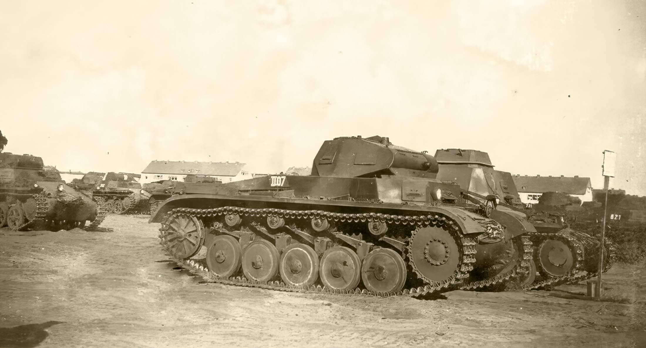 Wehrmacht Panzer II at a tank depo France July 1940 ebay 01