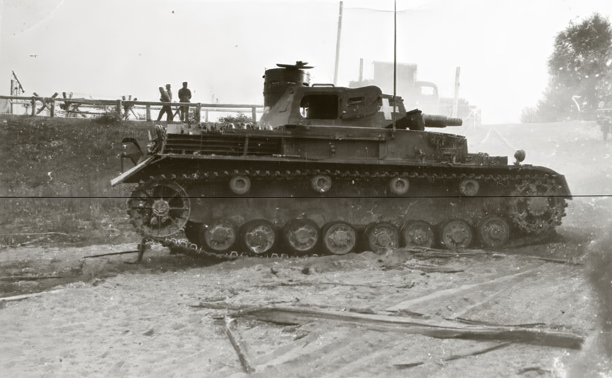 Wehrmacht Panzer III tank abandoned during battle of France May 1940 ebay 01