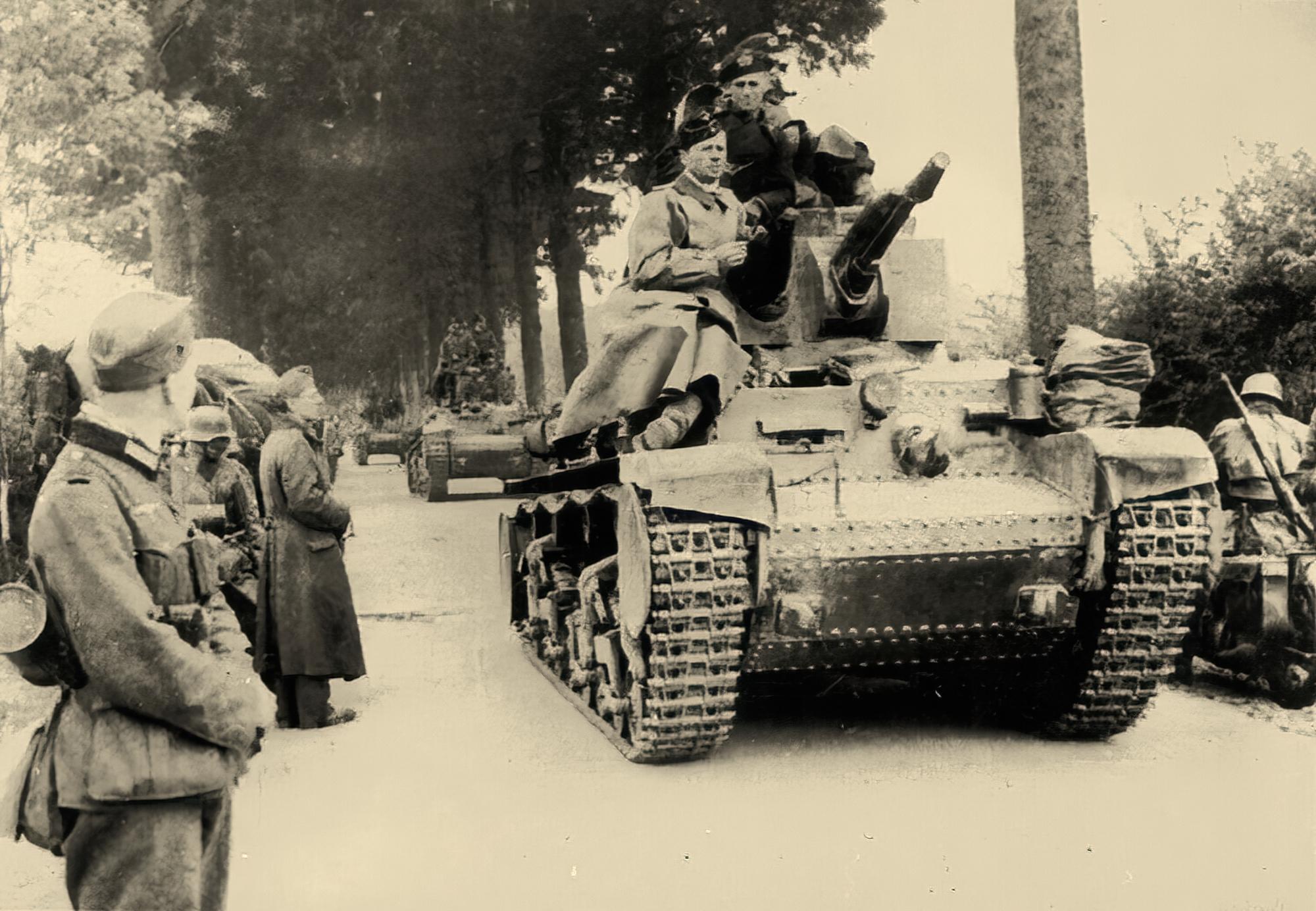 Wehrmacht Panzerstaffel Kpfw.38(t) ausf ef flamethrower tank rare photo ebay 01