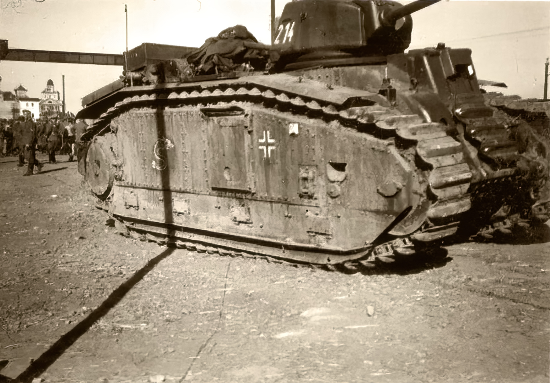 Wehrmacht captured Renault Char B1 being used by German forces France 1940 ebay 01