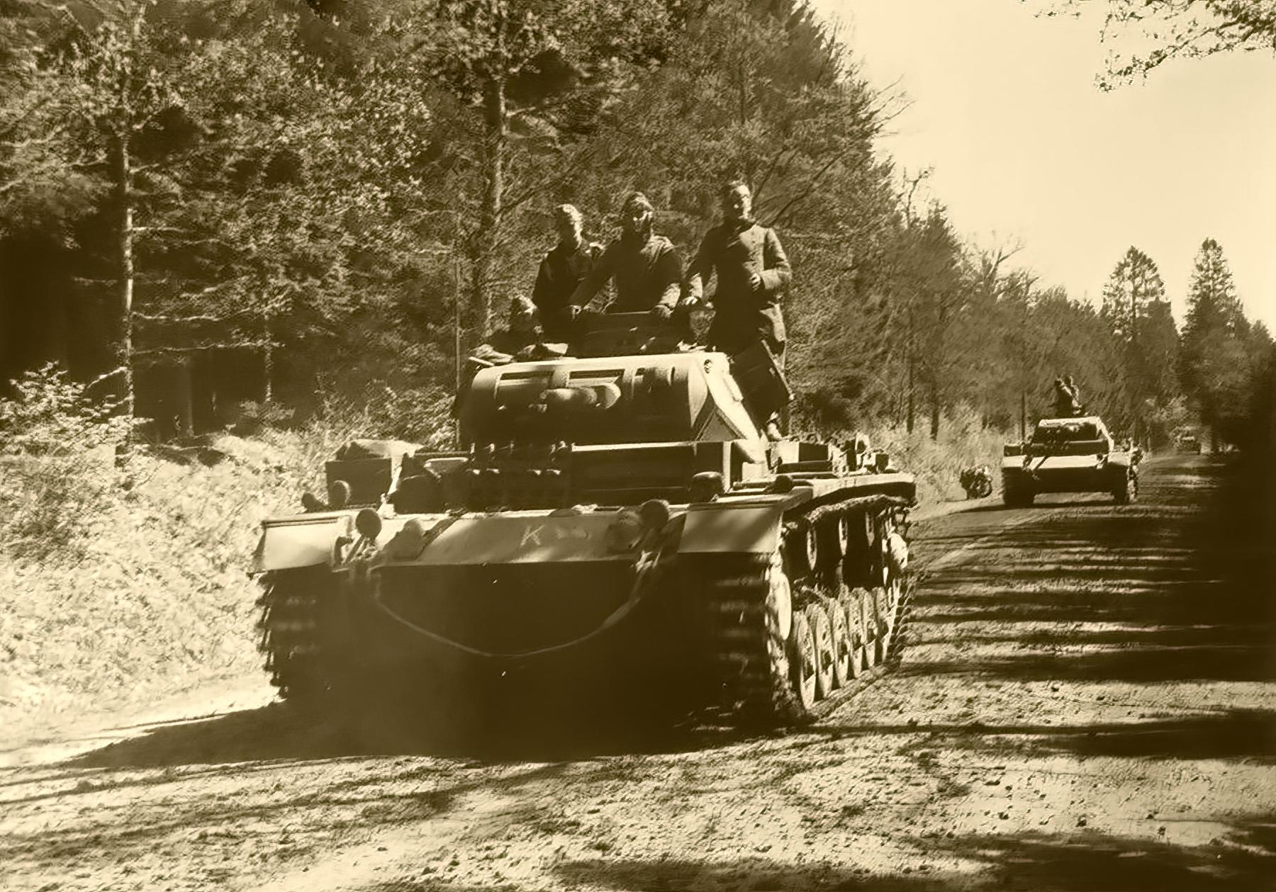 Wehrmacht tank column advance through Belgium 1940 ebay 02