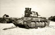 Asisbiz British Matilda abandoned with French Renault R35 during battle of France 1940 ebay 01