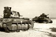 Asisbiz British Matilda abandoned with French Somua S35 during battle of France 1940 ebay 01