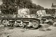 Asisbiz French Army Renault Char AMR 35 White 26 and 24 abandoned battle of France 1940 web 01