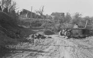 Asisbiz French Army Renault Char B1 destroyed near Stonne Battle of France May 1940 NIOD