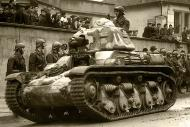 Asisbiz French Army Renault R35 support tank military parade France 1940 web 01