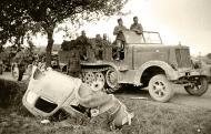 Asisbiz Wehrmacht artillery and truck column advance towards Saint Nazaire France 1940 ebay 02