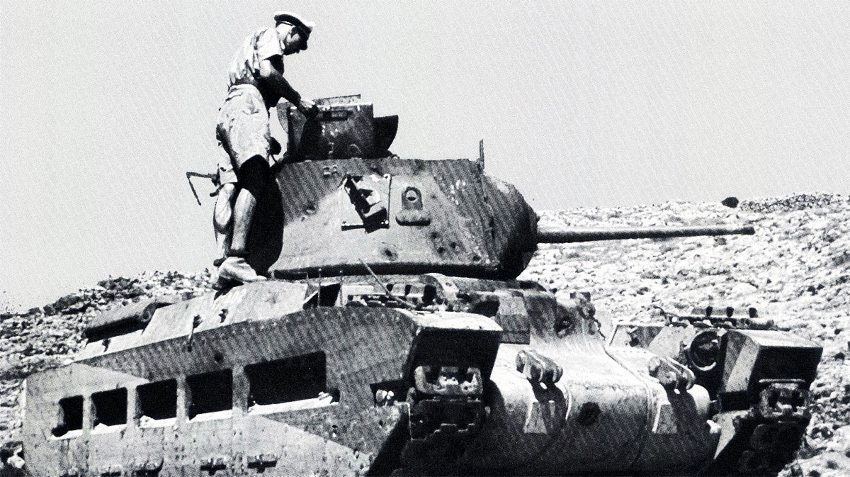British Matilda Tank being inspected by German forces after being abandoned Greece 1941 01