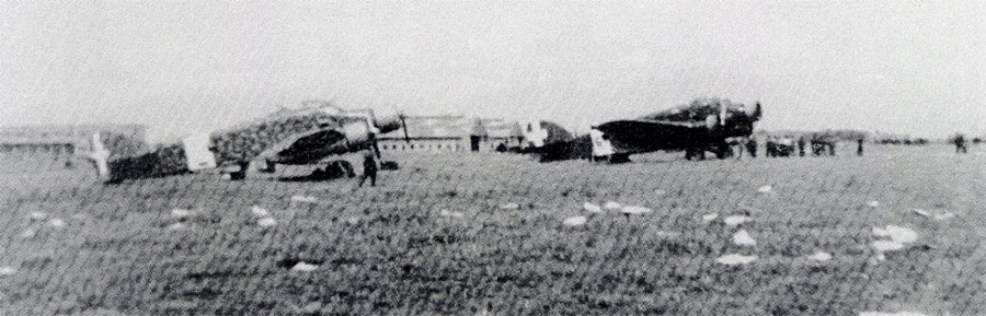 Italian Savoia Marchetti SM 79 Sparviero fly in high ranking officials Greece 1941 01
