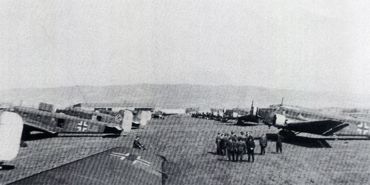 Junkers Ju 52s lined up in preparation for the Crete offensive 1941 01