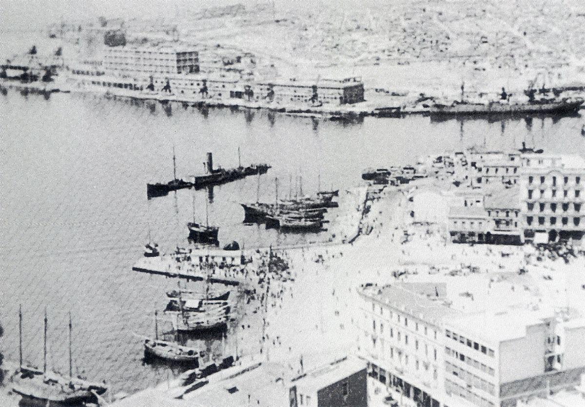 KG307 raid on Piraeus Harbour taken during the raid by Hptm Hajo Herrmann April 6 7 1941 03