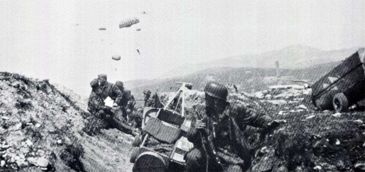 Unternehmen Merkur German paratroopers dropped during the invasion of Crete 1941 01