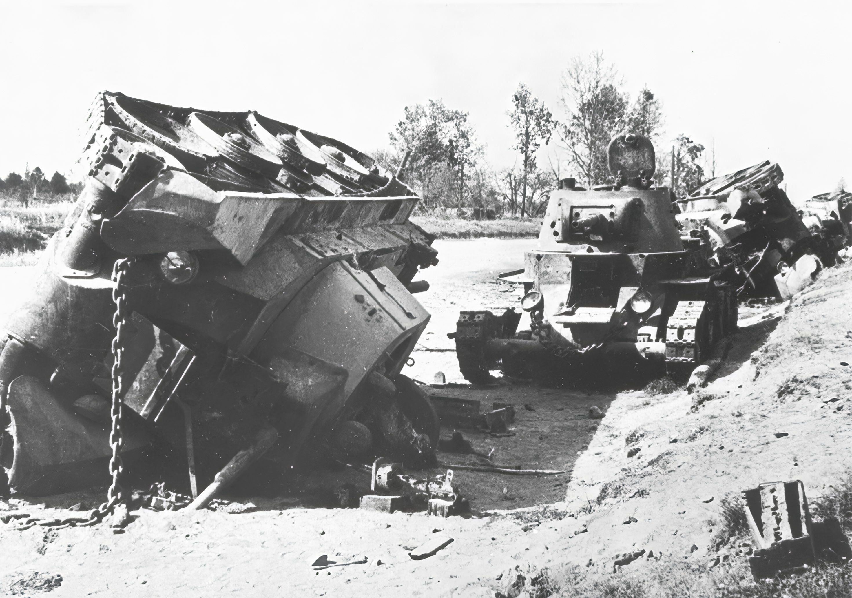 Soviet tanks destroyed eastern front 30th Aug 1941 NIOD