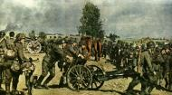Asisbiz German 75 mm light infantry weapon IG 18 being maneuvered into a defensive position Russia 1941 01