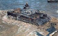 Asisbiz German Panzer Pzkpfw III Tank crossing a river 01